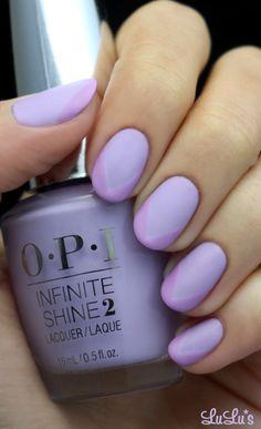 Matte Lavender Nail.