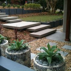 Modern Exterior Stairs Design, Pictures, Remodel, Decor and Ideas