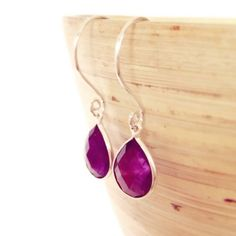Purple Earrings Amethyst earrings February Birthstone by AinaKai, $46.00