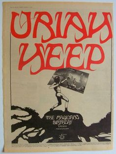 URIAH HEEP 1972 Poster Ad THE MAGICIAN'S BIRTHDAY