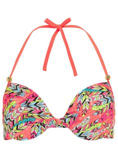 Dorothy Perkins Feather twist front bikini top