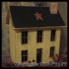 Lighted Country Houses and Primitive Saltbox Houses Saltbox Houses, Bird Houses, Wooden Houses, Doll Houses, Bedroom Furniture Design, Painted Furniture, Modern Furniture, Face Painting Tutorials, Decoupage Box