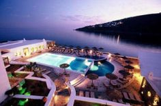 Petasos Beach resort and spa, Mykonos, Greece. Said to be one of the 10 most romantic hotels in the world.