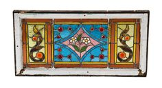 fantastically designed 19th century original antique american interior chicago residential stained glass window bedecked with faceted jewels