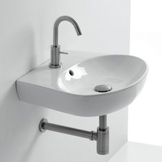 """H10 19.7"""" Wall mount Bathroom Sink with Overflow"""