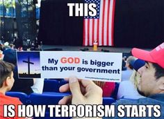 This is the reason for Separation of Church and State!!