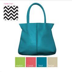 Mainstreet Collection Memphis Collection Handbag ~ Melon, Coral, Lime, Beige