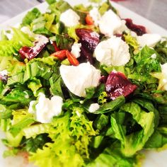 Tonight I  made my favorite salad Green Beet Salad with Sweet mustard vinaigrette  Click to get recipe