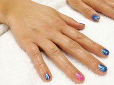 Nail Art: Peacock Mani using CND Shellac - Purple Purple, Hotski To Tchotchke, Hot Pop Pink, Moonlight & Roses | by Brandi G. Lam, Idaho's Green Manicurist