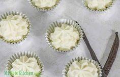 Vanilla Cheesecake Fat Bombs. I think I'll sub honey for the erythritol.