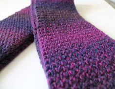 Purple  Loom Knit Scarf