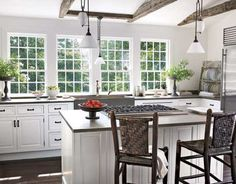House interior decorating - White, Airy Kitchen
