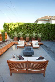 Concrete fire table Kelowna Fired Earth, Fire Table, Fire Bowls, Outdoor Furniture Sets, Outdoor Decor, Concrete, Garden, Modern, Plants