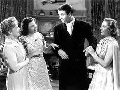 """With Spring Byington, Ann Miller and Jimmy Stewart in """"You Can't Take it with You"""".  We're getting married!  :)"""
