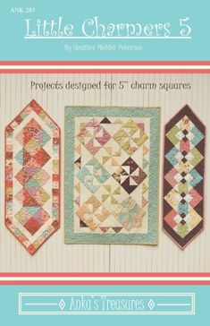 Little Charmers, Table Runner Pattern, Tablerunners, Quilted Table Runners, Charm Pack, Pink Fabric, Pinwheels, Quilt Patterns, Scrap