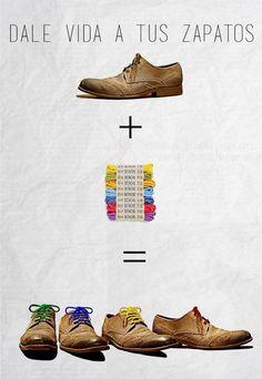 Dale vida a tus zapatos con un toque de color.