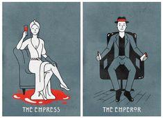 'American Horror Story' Inspired Tarot Cards by Derek Eads