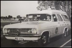 """HR Holden Panelvan Ambulances """"note the door"""" Holden Wagon, Ems Ambulance, Holden Monaro, Holden Australia, Australian Cars, Old Pickup, Emergency Vehicles, Station Wagon, Police Cars"""