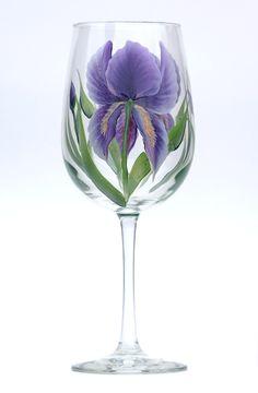 Purple Irises – http://www.wineflowersglass.com/collections/wineglasses/products/purple-iris $19.95
