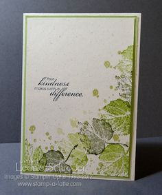 Recipe Stamps: Blooming with Kindness, French Foliage Cardstock: Naturals White, Certainly Celery Inks: River Rock, Lucky Limeade, Always Artichoke, Midnight Muse Accessories: Stampin' Trimmer, Snail Adhesive