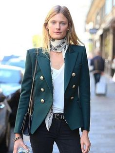 Constance Jablonski street style after the Balmain S/S 2016 Show