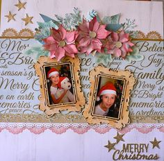 Create a Christmas-themed pocket-style album of your holiday memories with family in the Christmas Wishes Collection 12 Christmas Wishes, Christmas Themes, Christmas Cards, Merry Christmas, Scrapbook Page Layouts, Scrapbook Albums, Christmas Scrapbook, Card Making, Lay Outs