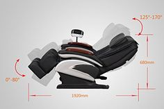 Amazon.com: Electric Full Body Shiatsu Massage Chair Recliner Stretched Foot Rest 06: Health & Personal Care