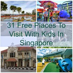 Want to enjoy with your kids and family in Singapore? Check out this list of 31 free places to visit with kids in Singapore. All About Singapore, Singapore With Kids, Holiday In Singapore, Singapore Sling, Singapore Travel, Singapore Vacation, Fun Places For Kids, Oh The Places You'll Go, Places To Visit