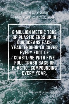 earth day 2018 scary plastic statistic: 8 MILLION METRIC TONS of plastic winds up in our oceans each year. That's enough trash to cover every foot of coastline around the world with five full trash bags of plastic…compounding every year. Save Our Oceans, Oceans Of The World, Save Our Earth, Save The Planet, Pollution Information, Earth Day Facts, Bell The Cat, Save The Sea Turtles, College Life Hacks