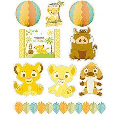 This Sweet Circle of Life Decorating Kit includes an array of decorations that will give your Lion King themed baby shower a fantastic look. Set of 10.