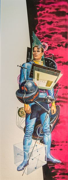 ED EMSHWILLER - Space Ship Pilot - Origin Unknown - 1950s