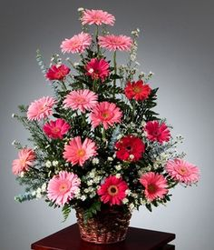 Awesome Spring Flower Arrangements For Centerpieces Decor - Silk Flower Arrangements ad a burst of color and class. This article gives pointers for decorating with an arrangement. Silk flower arrangements are c. Easter Flower Arrangements, Creative Flower Arrangements, Funeral Flower Arrangements, Beautiful Flower Arrangements, Funeral Flowers, Beautiful Flowers, Floral Arrangements, Altar Flowers, Silk Flowers