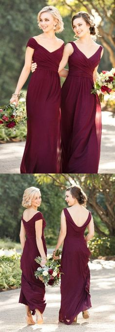 elelgant grape bridesmais dresses,simple chiffon wedding party dress,long off the shoulder bridesmaid dress,wedding guest dresses for fall