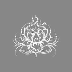 World Menagerie Lotus Flower Wall Decal Colour: White Vine Drawing, Lotus Drawing, Lotus Art, Lotus Flower Mandala, Lotus Mandala Design, Lotus Flower Tattoo Design, Maching Tattoos, Flower Wall Decals, Lettering Styles