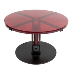 Red Enamel and Glass Table by Christophe Côme   From a unique collection of antique and modern coffee and cocktail tables at https://www.1stdibs.com/furniture/tables/coffee-tables-cocktail-tables/