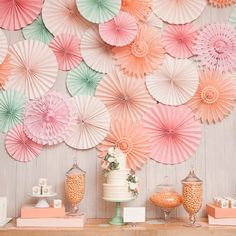 in LOVE with this beautiful backdrop! #gorgeouscolors #pinwheelheaven #paperpretty http://instagram.com/zoriedesign www.zorie.com