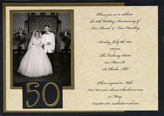 My parent's 50th Anniversary Wedding Invitation from 2007.  Just found it on my computer!! This inside picture is cut out and done as a pop-up.  http://rosebud-crafts.blogspot.com
