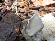 Statement ring in smoky agate, custom order, #327, size 6 by Sandy River Jewelry