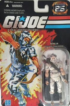 "G.I. Joe Ninja Storm Shadow 4"" Action Figure 2007 NRFB 25th Anniversary #Hasbro"
