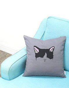 Great gifts for a cat lover. Modern sleek cat pillow cases.