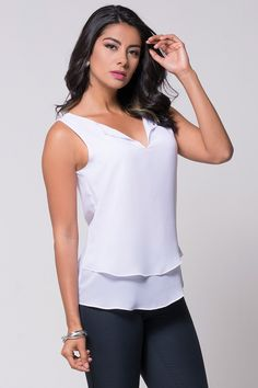 Blusa Expressions blanca