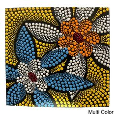 Fair Trade Hand Painted Dot Design Canvas