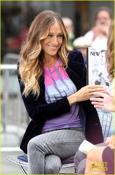 Sarah Jessica Parker. Love the ombre look. I've always loved her hair!