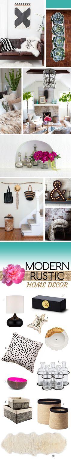 Modern Rustic Home Decor // Inspiration + Shopping