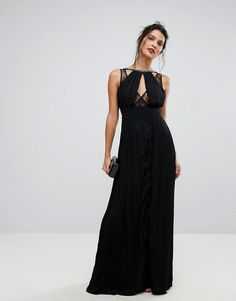 #ASOS - #TFNC TFNC High Neck Embellished Maxi Dress With Lace Insert - Black - AdoreWe.com
