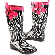 Women's Pop Zebra Rain Boots