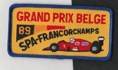 BELGIAN BELGE SPA GRAND PRIX 1989 ORIGINAL PERIOD CLOTH SEW ON RACE SUIT PATCH Racing Stickers, Grand Prix, Race Cars, Period, Decals, Patches, Spa, Sewing, Drag Race Cars