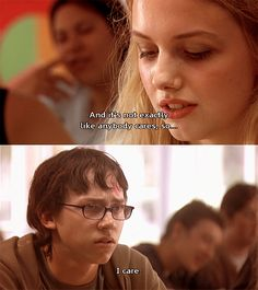 Sid and cassie (skins uk) Cassie Skins, Skins Uk, Tv Show Quotes, Movie Quotes, Series Movies, Movies And Tv Shows, Tv Series, Skins Generation 1, Skins Quotes