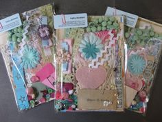 Paper and more collage kit over 90 pieces for art by RutabagaStuff $6.50