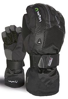 Level Superpipe XCR Mens Snowboard Gloves Black 95XL ** Visit the image link more details.(This is an Amazon affiliate link and I receive a commission for the sales)